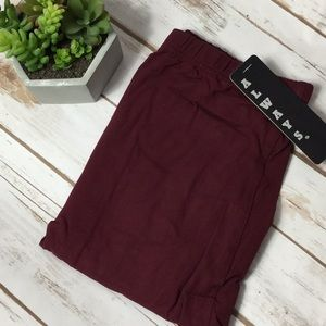always Pants - Wine color soft leggings NWT OSFM